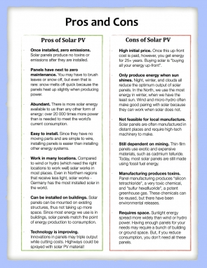 Solar Pros and Cons